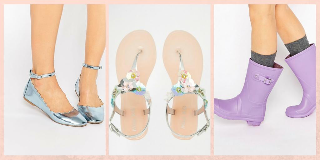 Chaussures Pastel Métallisées ASOS - ChestnutsandPeonies