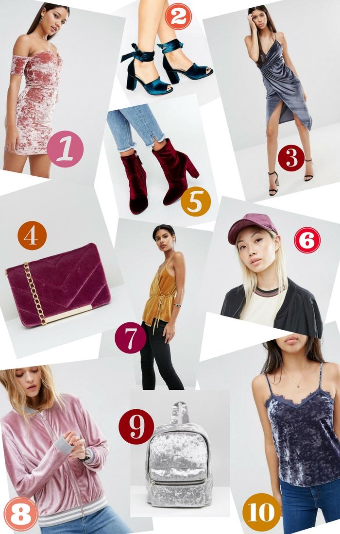 tendance automne hiver velours - sélection shopping ChestnutsandPeonies