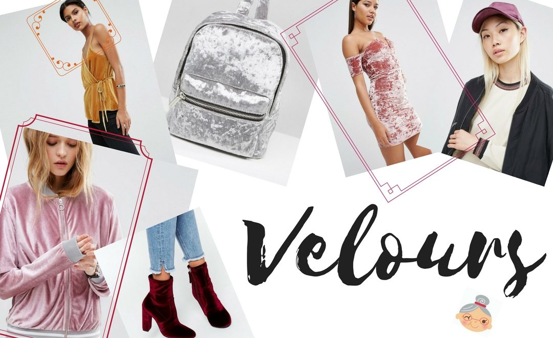 tendance mode automne hiver : velours