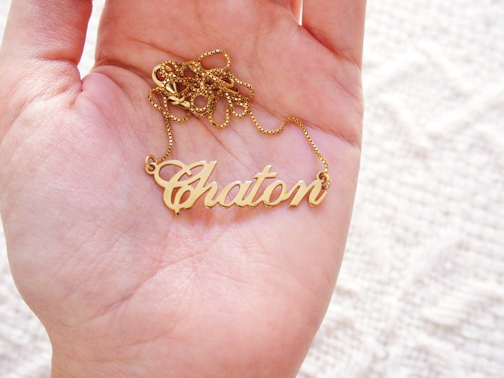 collier chaton onecklace