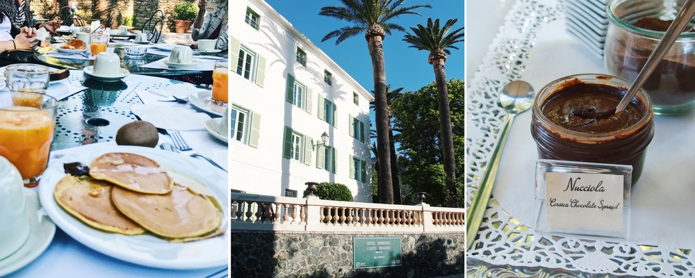 petit dejeuner hotel castel brando erbalunga haute corse
