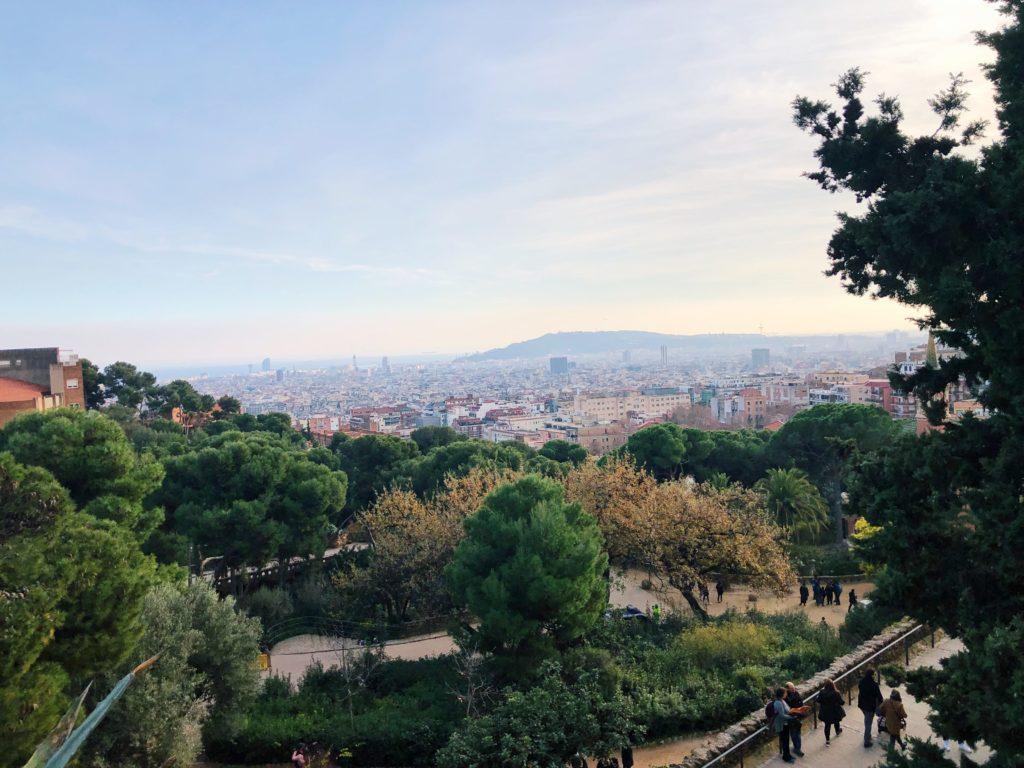 vue barcelone depuis le parc guell