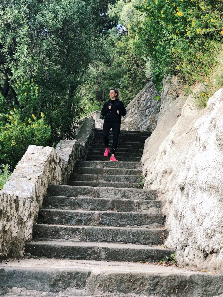session running chateau de nice