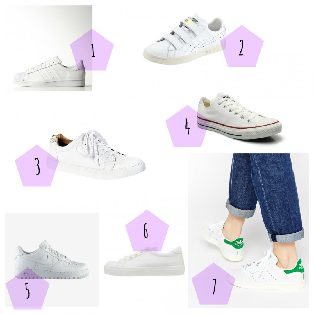 sélection shopping tendance baskets blanches